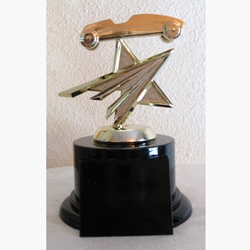 "6"" Star Pinewood Derby Car Trophy"