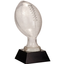 Large Football Premier Glass Trophies