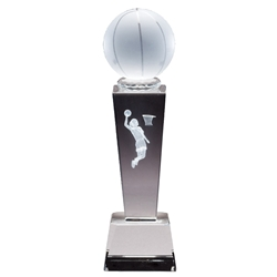 Basketball Female Sport Crystal Trophies