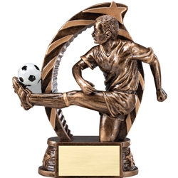Soccer Male Running Star Trophies