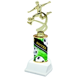 Soccer Male Sports Motion Column Trophies