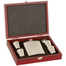 Stainless Steel Flask Gift Set
