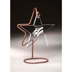 Hanging Star Acrylic Awards