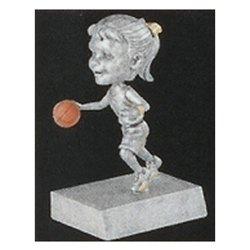 Female Basketball Rock n' Bop Bobblehead Trophies