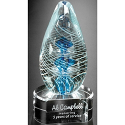 Synergy on Clear Base Art Glass Awards
