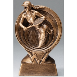 Tennis Female Saturn Resin Series Trophies