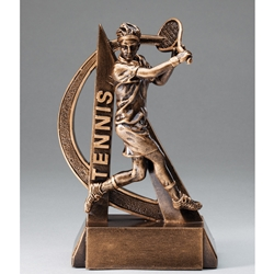 Tennis Male Ultra Action Sports Resin Trophy