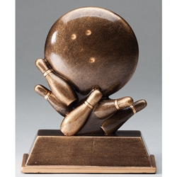 Bowling Ball and Pins Trophies