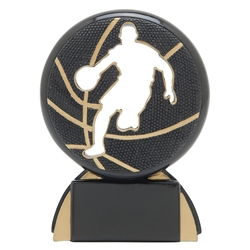 Basketball Male Shadow Sport Resin Trophies