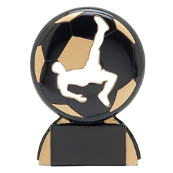 Soccer Male Shadow Sport Resin Trophies