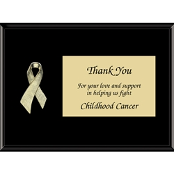 "Gold ""Childhood Cancer"" Awareness Ribbon Plaques"
