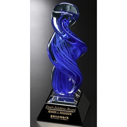 Blue Whirlwind Glass Art Awards