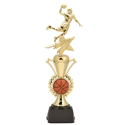 Basketball Male Radiance Assembled Trophies