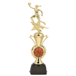 Basketball Female Radiance Assembled Trophies