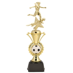 Soccer Female Radiance Assembled Trophies