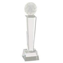 Volleyball Crystal Pedestal Trophies