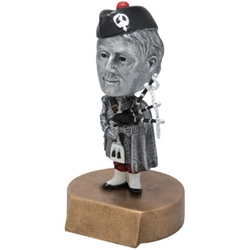 Scotsman/Highlander Mascot Bobblehead Trophies
