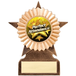 Perfect Attendance Insert Trophies