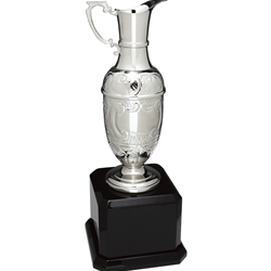Silver Swatkins Hand Chased Claret Jug with Piano Finish Base
