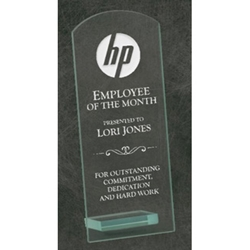 Jade Glass Curved Rectangle Awards
