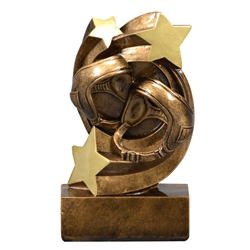Wrestling Star Swirl Trophies