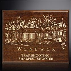 Aberdeen Walnut Laser Plaque