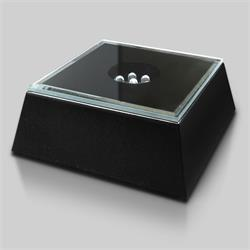 Black Mirrored Lighted Square Base