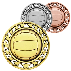 Volleyball Star Medallions