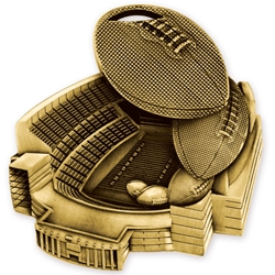 Football Stadium Award Medallions