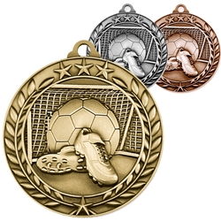 Soccer Wreath Medals