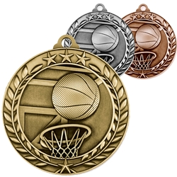 Basketball Wreath Medals