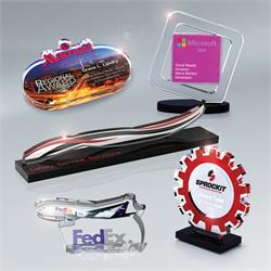 "Custom Shaped Acrylic Awards 3/8"" thick (up to 23 square inches)"