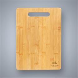 Bamboo Cutting Board with Handle Cutout