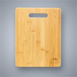 Bamboo Cutting Board with Handle Cutout, Large
