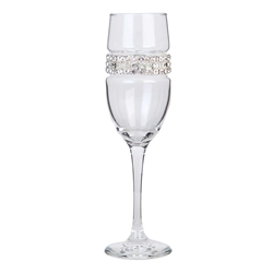 Blank Champagne Flute with Silver Bracelet