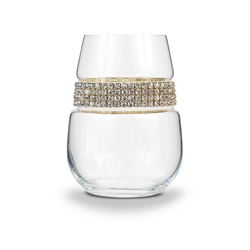 Blank Stemless Wine Glass Gold Bracelet