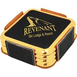 Leatherette Gold Edge Square