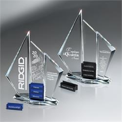 Optic Crystal Tri  Pinnacle Award