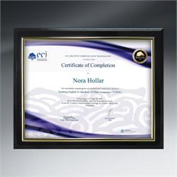 Slide-in Certificate Ebony Plaque Ebony in Mailer Box