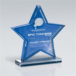 Star Double Layer Cutout on Base Award Trophy