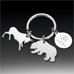 Bull and Bear Keychain