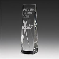 Crystal Tower Award Trophy