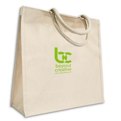 Heather Laminated Canvas Tote