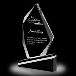 Optica Oblique Crystal Award Trophy