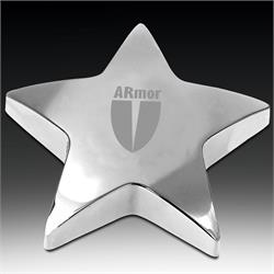Starbright Silver Star Paperweight Award