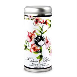 Tea Can Company Hibiscus Flower Tall Tin