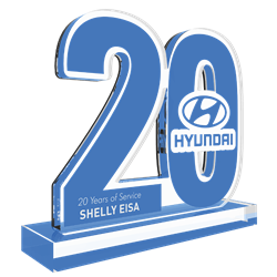 Personalized Acrylic Years of Service Company Anniversary Award - Custom Cut With Company Logo