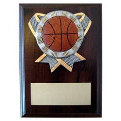 Basketball Ribbon Holder Plaques