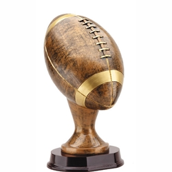 "13"" Large Bronze Football Resin Trophies"